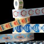 Etichette in rotoli e fogli